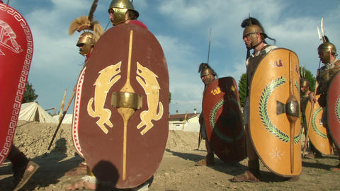 roman legion marching 03 Footage