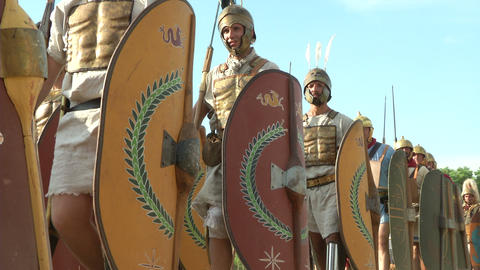 roman legion marching 05 Stock Video Footage