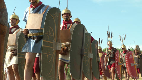 roman legion marching 05 Footage