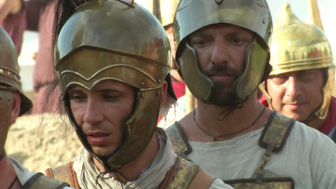 roman legion marching 07 Stock Video Footage