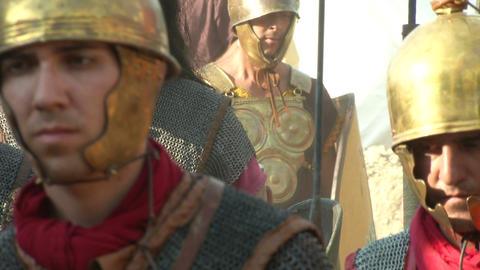 roman legion marching 07 Footage