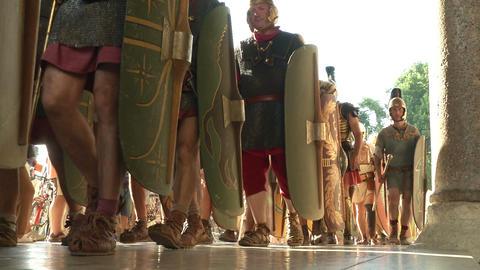 roman legion marching 09 Stock Video Footage