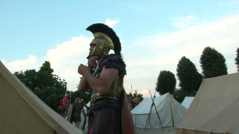 roman praetorian 01 Stock Video Footage