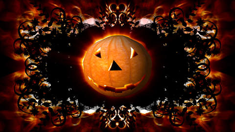 halloween intro 2 Stock Video Footage