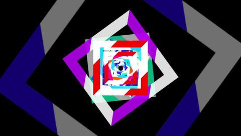 Color plane tunnel loop Stock Video Footage