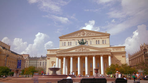 Bolshoi Theater in Moscow, Russia Time Lapse Footage
