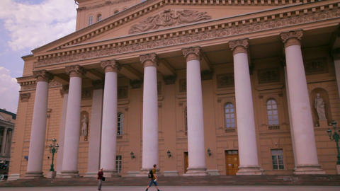 Bolshoi Theater in Moscow, Russia Time Lapse Stock Video Footage