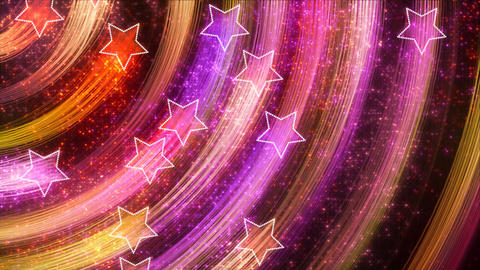disco stars abstract loopable background multicolo Animation