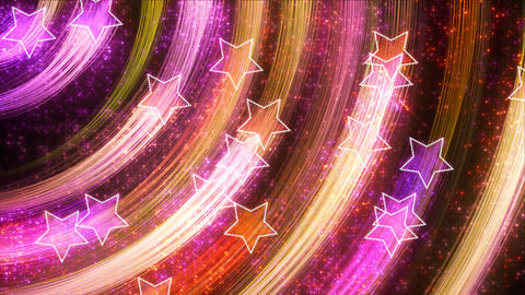 disco stars abstract loopable background multicolo Stock Video Footage