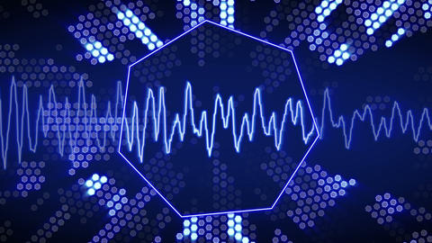 waveform animation technology blue back loopable Stock Video Footage
