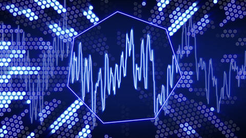 waveform animation technology blue back loopable Animation