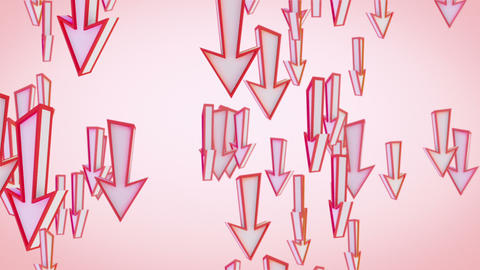 red arrows fly downward loop Stock Video Footage