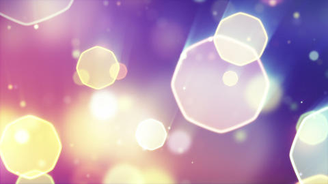 delicate octagon bokeh lights seamless loop backgr Stock Video Footage