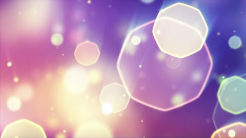 Delicate Octagon Bokeh Lights Seamless Loop Backgr stock footage