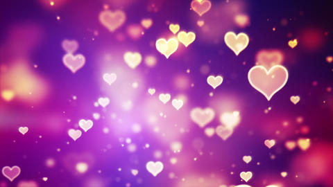 shining hearts bokeh loopable romantic background Animation