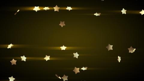 falling gold stars loop luma matte Stock Video Footage