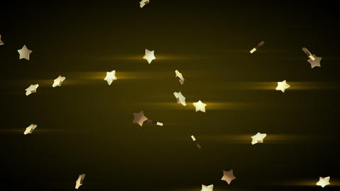 falling gold stars loop luma matte Stock Video Footage