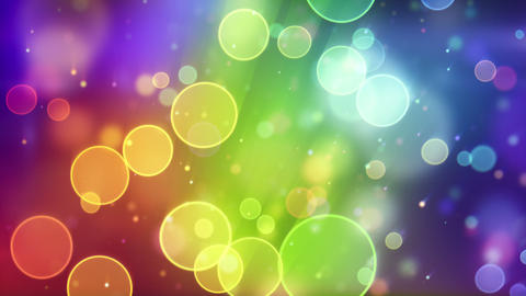 multicolor circle bokeh lights seamless loop backg Animation