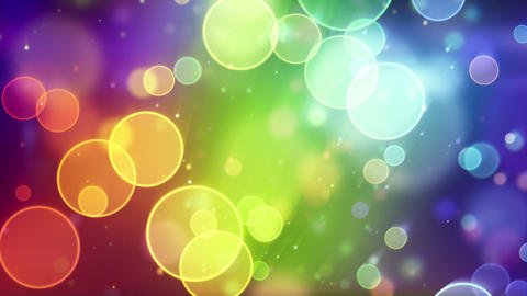 multicolor circle bokeh lights seamless loop backg Stock Video Footage