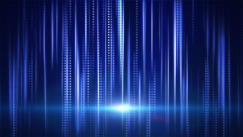 blue stripes and squares tech background loop Animation