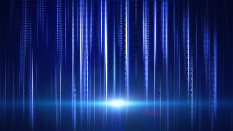 blue stripes and squares tech background loop Stock Video Footage