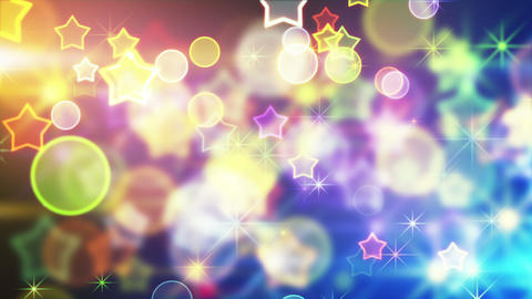 shiny festive background with bokeh and stars loop Stock Video Footage