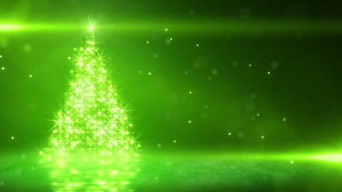 green light christmas tree last 10s loop Animation