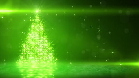 green light christmas tree last 10s loop Stock Video Footage