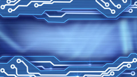 electronic circuit plates blue loop background Stock Video Footage