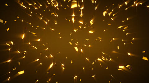 gold shiny confetti background loop Stock Video Footage