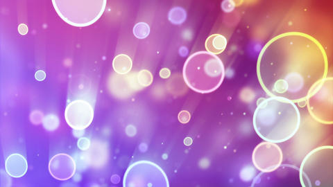 delicate circle bokeh lights seamless loop backgro Stock Video Footage