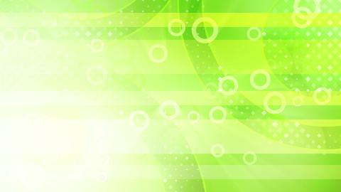 green shiny circles loop Stock Video Footage