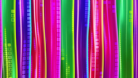 colorful bars waving seamless loop Stock Video Footage
