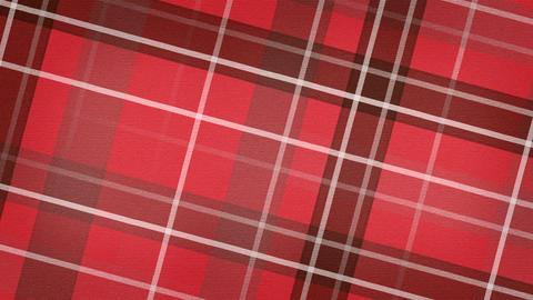 red scottish checked fabric loopable background Stock Video Footage