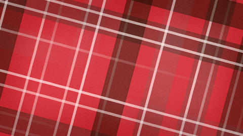 red scottish checked fabric loopable background Animation