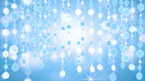 blue shining hanging circles loop background Stock Video Footage