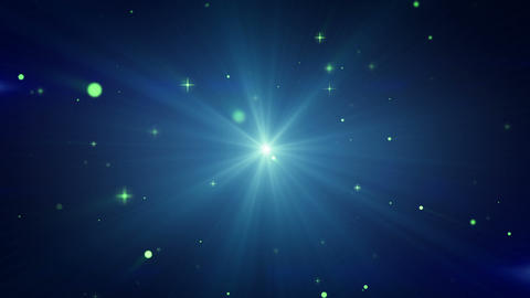 light and flying particles blue loop background Stock Video Footage