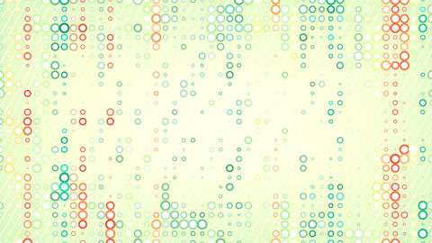 colorful circles pattern loop Stock Video Footage