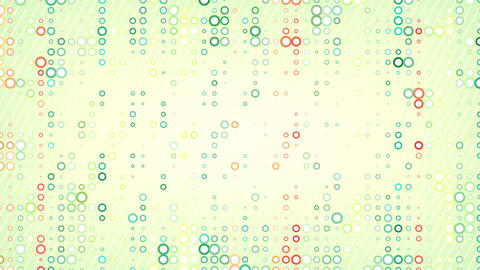 colorful circles pattern loop Stock Video Footage