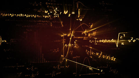 shining physics maths formulas loop Stock Video Footage