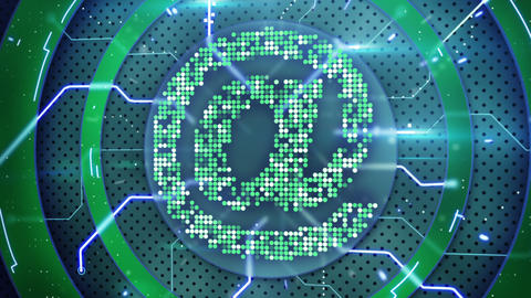 Hi-tech At E-mail Symbol Loop stock footage