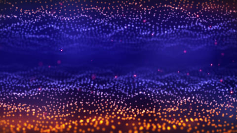 orange blue glow particle field loop Animation