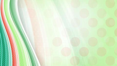 green orange abstract wavy background loop Stock Video Footage