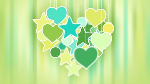 heart shape concept loop background luma matte Stock Video Footage