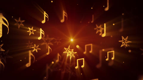 flying musical notes loopable background Stock Video Footage
