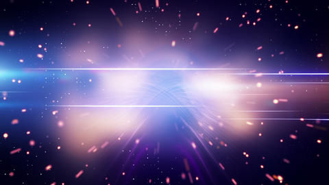 light and glowing particles loop background Stock Video Footage