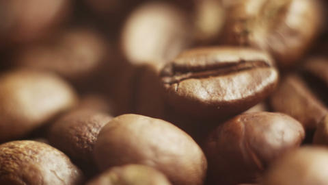 roasted coffee beans close-up Stock Video Footage