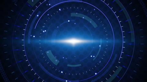 blue techno circles loop background Stock Video Footage
