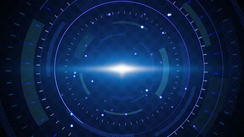 blue techno circles loop background Animation