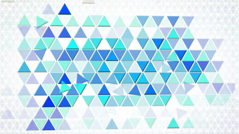 blue triangles geometric background loop Stock Video Footage